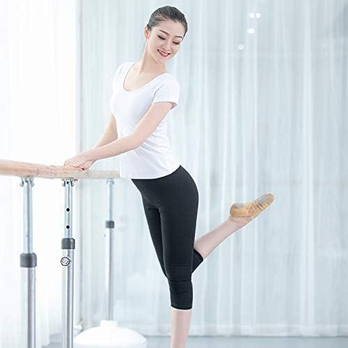Vshiaifen 大人のダンスパンツ女性の黒の9点のズボンのズボンのバレエボディタイトなストレッチダンス7点の練習のズボン (Color : O, Size : L)