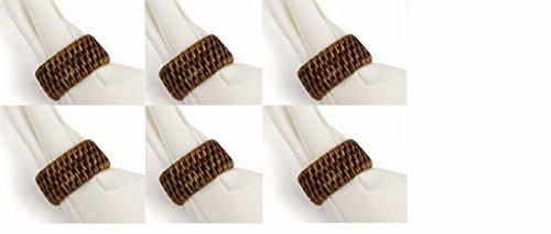 Napa Home and Garden Burma Rattan napkin ring Set of 6