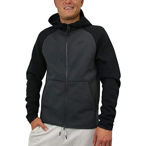 e Full Zip Hoodie Sweatshirt Anthracite/Black 928483-060 Size Medium ()