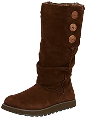 Skechers Women's Keepsakes-Brrrr Boot,Chocolate,5 M US