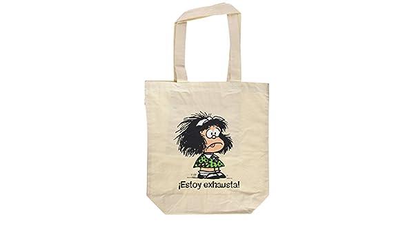 Bolsa Mafalda, Estoy exhausta: Amazon.es: Quino: Libros