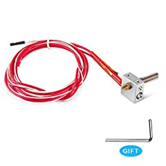 Features:  DIY replacement kit, special for Anet A2 & A8 printer.  Pre-wired thermistor, 100K ohm, 1.1m in length.  12V 40W cartridge heater.  Aluminum heater block.  0.4mm output nozzle.  6mm diameter external thread extruder throat, 30m...