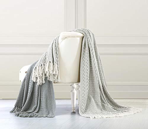 Amrapur Overseas Allure 100% Cotton Throw Batik, Grey, Standard (Pack of 2)