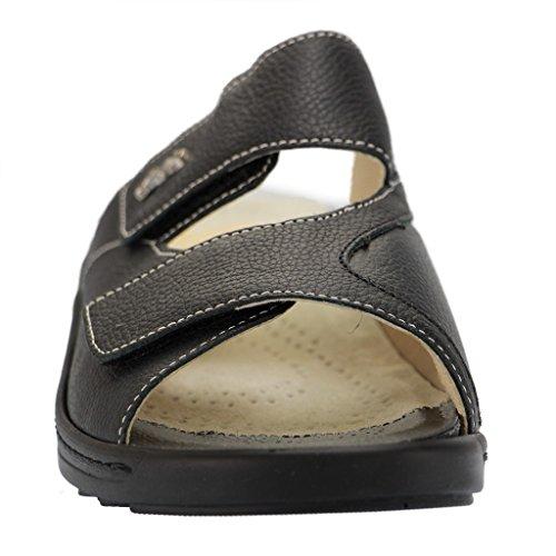 Hallux Fidelio Femme pantoufles Noir Noir sDOj99Z