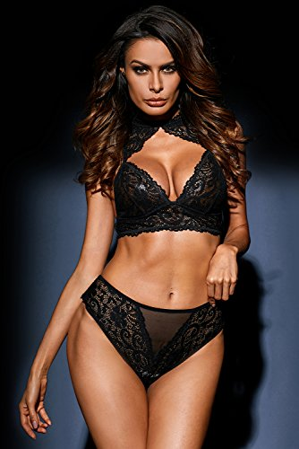 50ad8fcea54 justbuy-us Women Sexy Push Up Stretch Lace Bralette Lingerie Set Lace Bra  and Panties