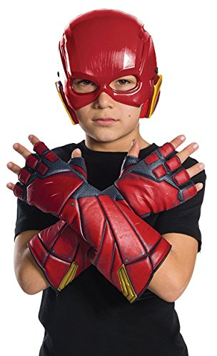 Rubies Costume Boys Justice League Flash Gloves Costume  One Size