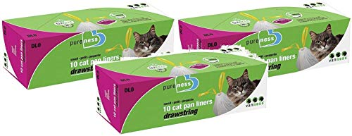 (3 Pack) Cat Pan Liners (Small Size - 10 Ct. Per Pack - 30 Total Liners) ()
