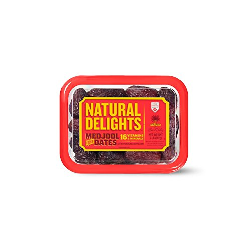 Bard Valley Natural Delights Medjool Dates (2 lb.) (pack of 6) by Bard Valley