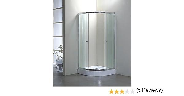 900 mm x 900 mm mampara de ducha y fibra de vidrio bandeja y ...