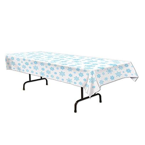 Plastic Snowflake Table Cover Pkg/3 -