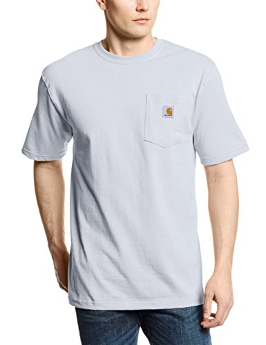 Carhartt Men's Workwear Pocket Short Sleeve T-Shirt Original Fit K87,Ash,2X-Large (Ash Short Sleeve T-shirt)