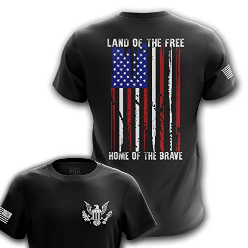 Tactical Pro Supply Land of The Free USA Flag T-Shirt - Small