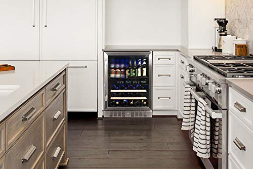 NewAir AWB-400DB Dual Zone Beverage Cooler Built-In Stainless Steel Refrigerator for Soda Beer or Wine Holds 22 Bottles and 70 Cans by NewAir (Image #1)