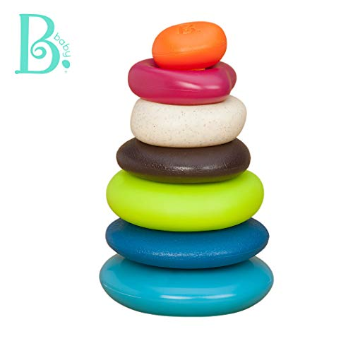 B. Toys - Stacking Rings - Textured Ring Stacker for Babies - Baby Toys 100% Non-Toxic BPA-Free - Early Development Toys (Normal Heart Rate For Two Year Old Child)