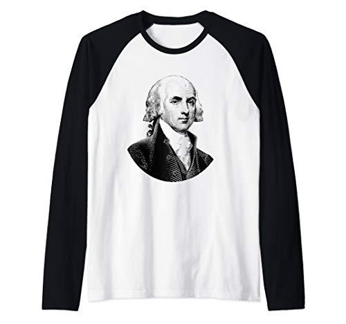 (President James Madison Raglan Baseball Tee)