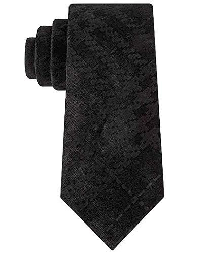 Sean John Men's One Velvet Pack Solid Slim Neck Tie Black Not Applicable