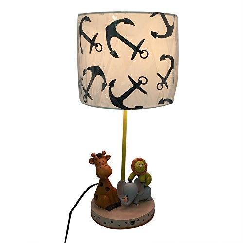 Kid's Lamp with Animals with Lion, Elephant and Giraffe, Great for Kid's Room by Creative Motion