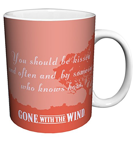 Gone with the Wind Be Kissed Quote Classic Hollywood Movie Film Ceramic Gift Coffee (Tea, Cocoa) 11 Oz. Mug