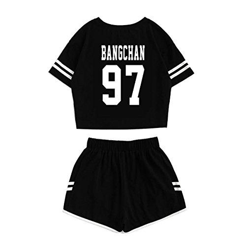 df9cc07080694 JUNG KOOK Kpop Stray Kids Shirt + Hot Pants Set Woojin Felix Shorts ...