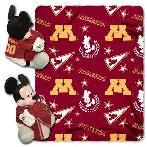 The Northwest Company Officially Licensed NCAA Minnesota Golden Gophers Co Disney's Mickey Hugger and Fleece Throw Blanket ()