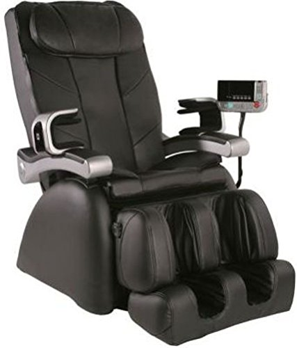 MP-1 Montage Premier Reclining Heated Massage Chair Upholstery: Black