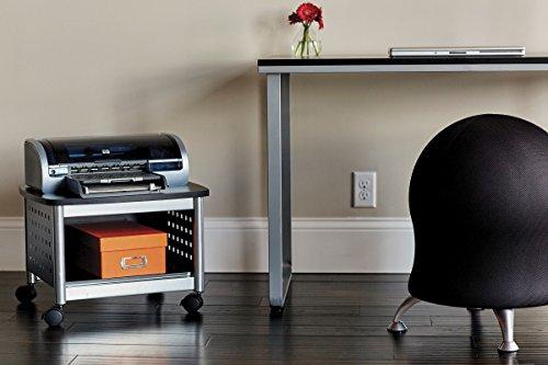 Safco Scoot Druckerständer für unter den Schreibtisch - schwarz