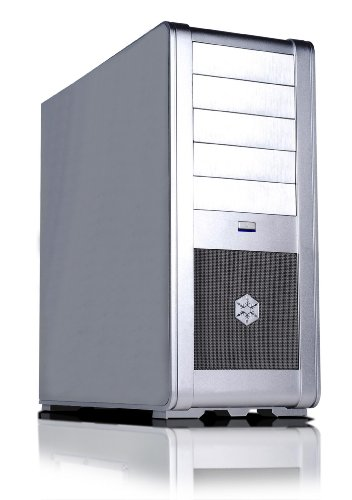 Silverstone FT01S Aluminum ATX Mid Tower Uni-Body Computer Case - Retail (Silver)