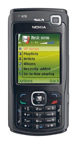 Nokia Series - Nokia N70 Black Unlocked Music Edition Triband 3G World GSM Cellular Phone (1GB Memory)