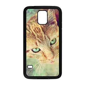 Ginger Cat Samsung Galaxy s5 Black Cell Phone Case TAL856689 Fashion Cell Phone Case