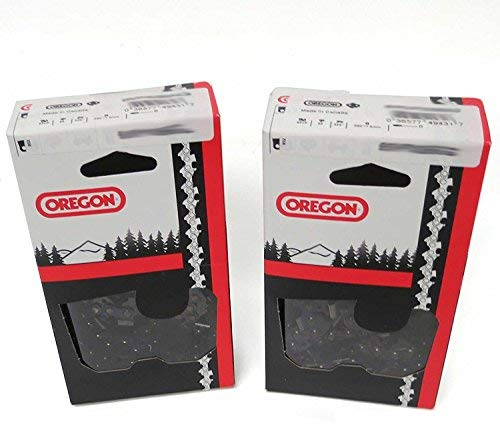 2 Pack, OREGON 72LPX072G 72 Drive Link Super 70 Chisel Chain, 3/8-Inch