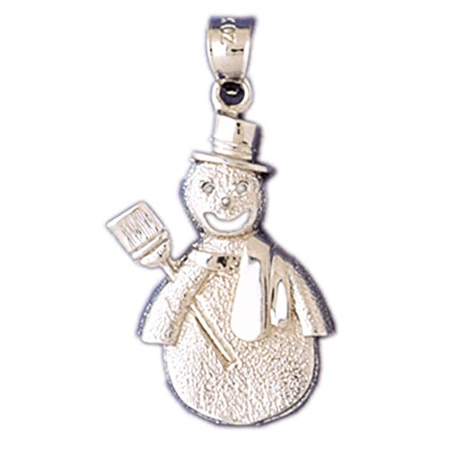 14K Yellow Gold Snowman Pendant - 33 mm (Gold Snowman 14k Yellow)