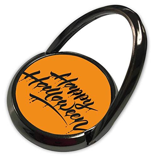 3dRose Sven Herkenrath Celebration - Scary Happy Halloween Quotes with Orange Background - Phone Ring -