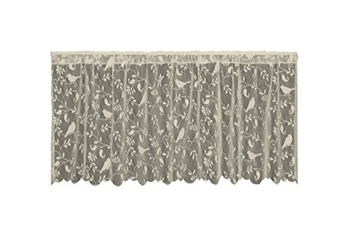 Heritage Lace Bristol Garden Tier, 60 by 24-Inch, Cafe