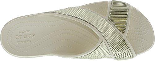 Slide Embellished Sandal Women's Crocs Oyster Gold Xstrap Crocssloane qwEPI
