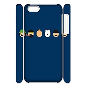 TOSOUL Custom painting Tintin & Milou Phone 3D Case For Iphone 5C [Pattern-3]