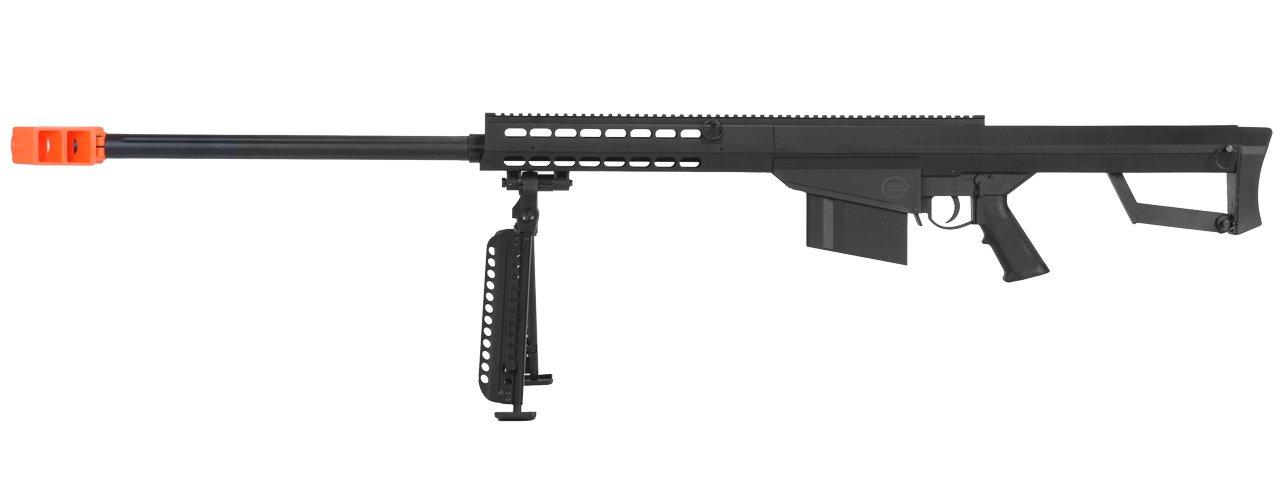 Lancer Tactical M82 50 Cal Spring Airsoft Sniper Rifle Gun Marksman FPS 435 w/ Nylon Polymer Bipod