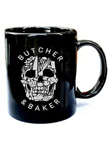 Baker chefs halloween- Funny Gift Black 11oz Ceramic Coffee Mug