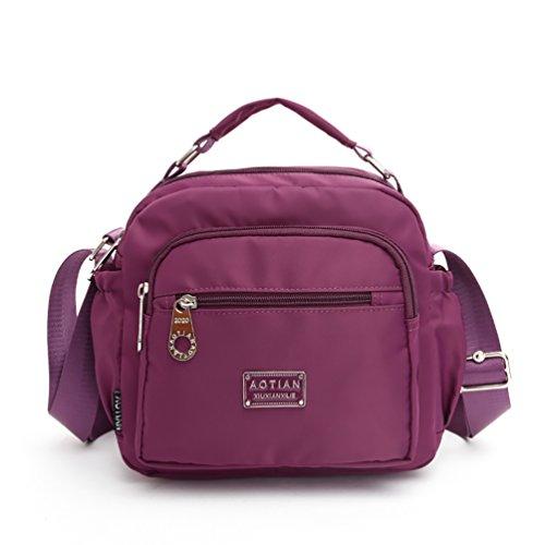 AOTIAN 7153 - Bolso estilo cartera para mujer Morado C-PURPLE small C-PURPLE