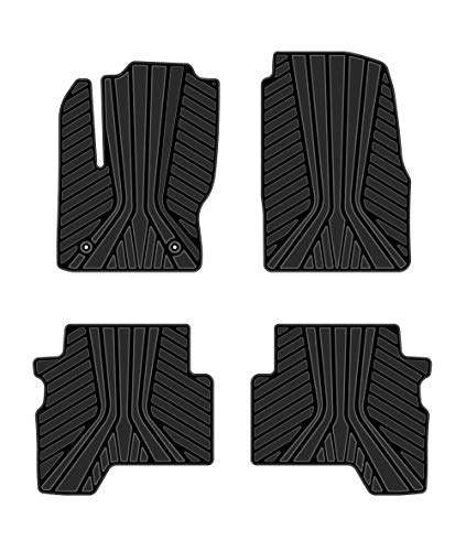 Kaungka Heavy Rubber Car Front Floor Mats Compatible for 2013 2014 2015 2016 2017 2018 Ford Escape -All weather and season protection car carpet