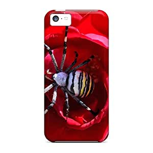 StarFisher Case Cover Protector Specially Made For Iphone 5c Striped Spider Animals