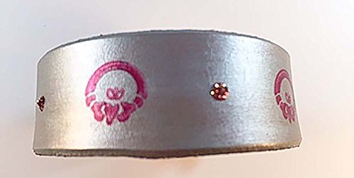 Irish Claddagh Distressed Silver Leather Narrow Bracelet
