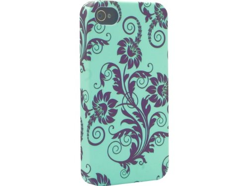 Signature VS7163S Back Case - Core Range - Apple iPhone 4 / 4S -Fleur de Lys Black & Green