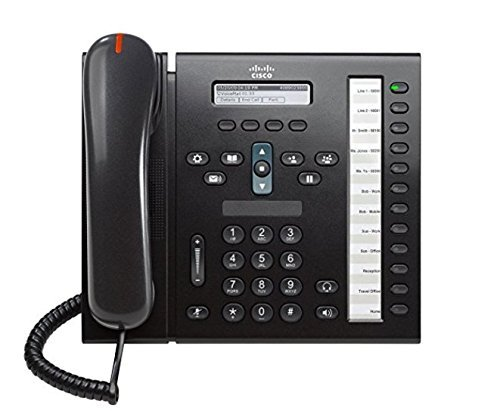 - Cisco 6961 CP-6961-C-K9 Unified 12-line IP Phone with Anti-Glare LCD Display, Full-duplex Speakerphone and 802.3af POE, Charcoal (Certified Refurbished)