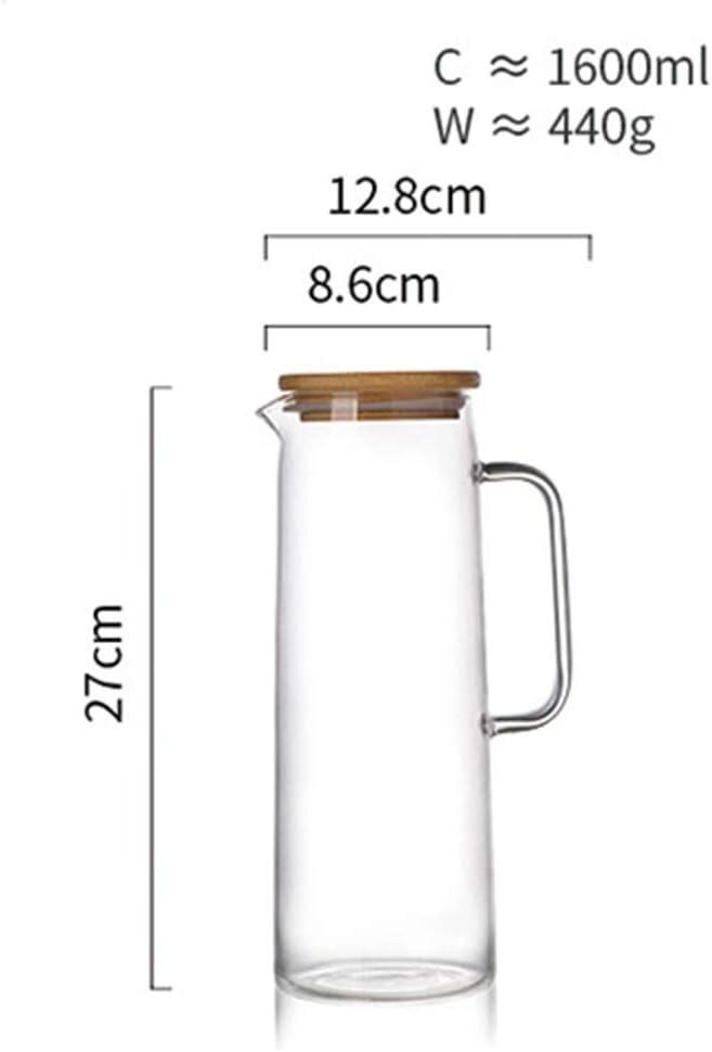Amazon.com: Jarra de cristal para café, a prueba de ...
