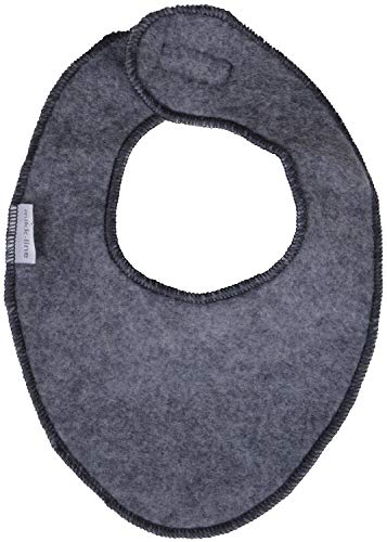 MIKK-Line - Melton Kids & Baby Wool Bib, Melange Grey, One - Wool Bib