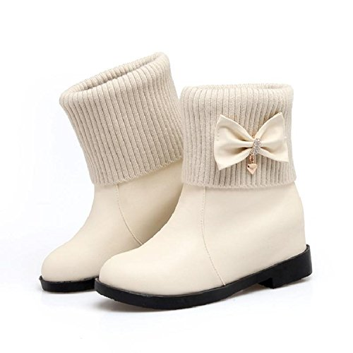 Gli Donna KHSKX E Knight Studenti L'Autunno Boots Breve Dolce L'Inverno Beige Stivali