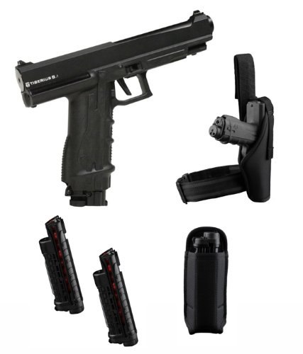 Tiberius Arms T8.1 Paintball Pistol Player's Kit - Black Paintball Marker Players Kit