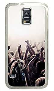 Samsung Galaxy S5 PC Hard Shell Case I am In Concert Transparent Skin by Sallylotus by runtopwell