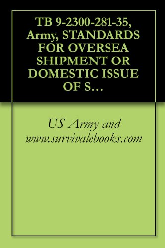 TB 9-2300-281-35, Army, STANDARDS FOR OVERSEA SHIPMENT OR DOMESTIC ISSUE OF SPECIAL PURPOSE VEHICLES, COMBAT, TACTICAL, CONSTRUCTION, AND SELECTED INDUSTRIAL ... READINESS COMMAND MANAGED ITEMS, 1977