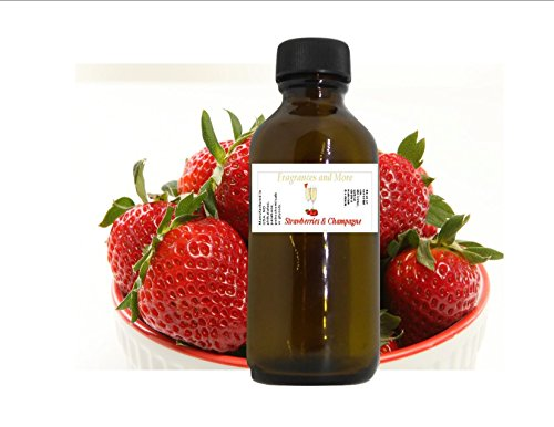 Strawberries & Champagne Fragrance Oil 2 ounces, for home, candles and B&B products